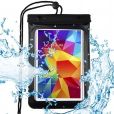 "UNIVERSAL WATERPROOF CASE POUCH DRY BAG FOR PHONE OR TABLET UP TO 8"" BLACK"