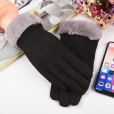 Universal Winter Gloves - Touch Screen Compatible White And Black