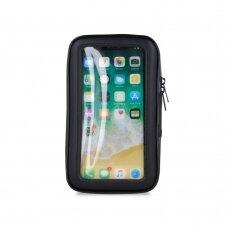 Universalus telefono laikiklis Maxlife MXBH-01 XL dviračiui, atsparus vandeniui,16,8 x 9,2 x 2,5cm dydis