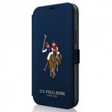 Originalus atverčiamas Us Polo dėklas Usflbkp12Mpugflnv Iphone 12/12 Pro tamsiai mėlynas Polo Embroidery kolekcija