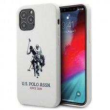 Originalus Us Polo dėklas Ushcp12Mslhrwh Iphone 12/12 Pro baltas Silicone kolekcija