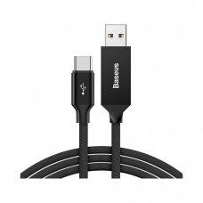 USB kabelis Baseus Yiven Type-C 3A 1.2m juodas CATYW-01