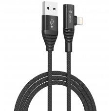 USB kabelis Devia Storm 2in1 Lightning-Lightning audio adapteris 1.2m juodas