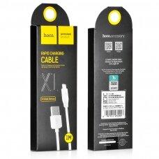 USB kabelis Hoco X1 microUSB 2.0m baltas