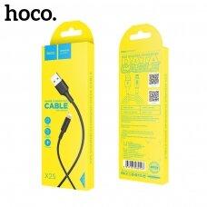 USB kabelis Hoco X25 Lightning 1.0m juodas