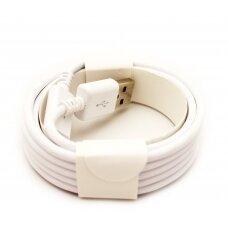 USB kabelis microUSB baltas HQ, 2.0m