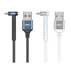 USB kabelis Remax RC-100i Lightning 2.4A baltas 1.0m