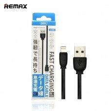 USB kabelis Remax RC-134i Lightning 2.1A juodas 1.0m