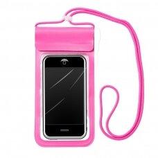 Dėklas Waterproof 6,6'' rožinis