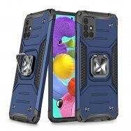Dėklas Wozinsky Ring Armor Case Kickstand Tough Rugged Samsung Galaxy A51 5G Mėlynas