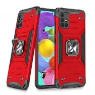 Dėklas Wozinsky Ring Armor Case Kickstand Tough Rugged Samsung Galaxy A51 5G Raudonas