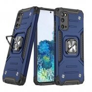 Dėklas Wozinsky Ring Armor Case Kickstand Tough Rugged Samsung Galaxy S20 Mėlynas