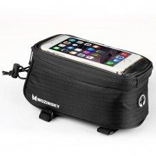 Wozinsky Bike Front Storage Bag Bicycle Frame Phone Case 6,5 Inch Max 1,5L Black (Wbb2Bk)