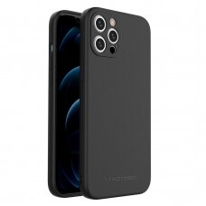 Dėklas Wozinsky Color Case silicone flexible durable case iPhone 11 Pro Max Juodas