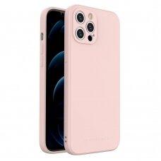 Dėklas Wozinsky Color Case silikonas iPhone 12 Pro Max Rožinis