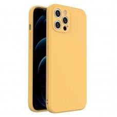 Dėklas Wozinsky Color Case silikonas iPhone 12 Pro Max Geltonas