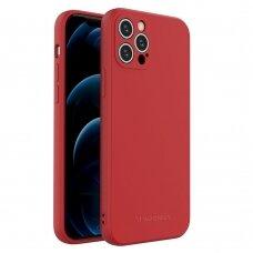 Dėklas Wozinsky Color Case silikonas iPhone 12 Pro Raudonas