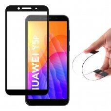 Wozinsky Full Cover Flexi Nano Glass Hibridinis Apsauginis Stiklas Huawei Y5P Juodais Kraštais