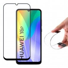 Wozinsky Full Cover Flexi Nano Glass Hybrid Screen Protector with frame for Huawei Y6p black UCS094