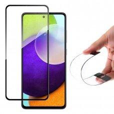 Apsauginis lankstus stiklas Wozinsky Full Cover Flexi Nano Glass Hybrid Samsung Galaxy A52/ A52s Juodas