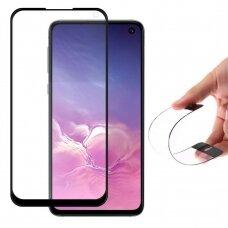 Wozinsky Lankstus, hibridinis apsauginis ekrano stiklas Samsung Galaxy S10 Lite / Galaxy Note 10 Lite / Galaxy A71 juodais kraštais UCS024
