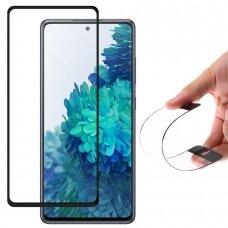 Wozinsky Full Cover Flexi Nano Glass Hybrid Screen Protector With Frame skirta Samsung Galaxy S20 Fe 5G Black
