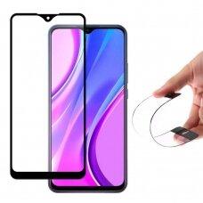 Wozinsky Full Cover Flexi Nano Hibridinis Stiklas Xiaomi Redmi 9 Juodais Kraštais
