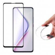Wozinsky Flexi Nano Glass Pilnai Dengiantis Hibridinis Stiklas Xiaomi Redmi K30 Pro / Poco F2 Pro Juodais Kraštais