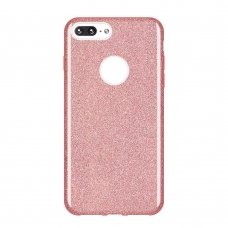 "BLIZGUS TPU DĖKLAS ""WOZINSKY GLITTER"" IPHONE 8 PLUS / IPHONE 7 PLUS LIGHT ROŽINIS HG99"