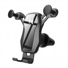 Wozinsky Horizontal / Vertical Gravity Car Mount Phone Holder skirta Air Outlet  Juodas (Wch-04)