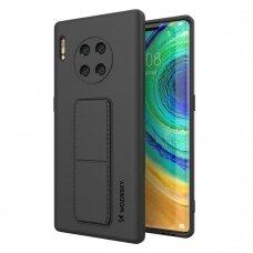 Wozinsky Kickstand Lankstaus Silikono Dėklas Su Stovu Huawei Mate 30 Pro Juodas