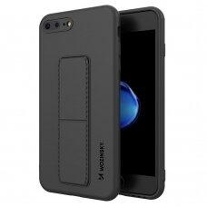 Wozinsky Kickstand Lankstaus Silikono Dėklas su Stovu iPhone 6S Plus / iPhone 6 Plus Juodas