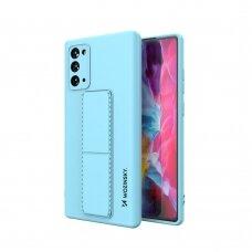 Wozinsky Kickstand Lankstaus Silikono Dėklas Su Stovu Samsung Galaxy Note 20 Mėlynas