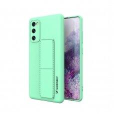 Wozinsky Kickstand Lankstaus Silikono Dėklas Su Stovu Samsung Galaxy S20 FE 5G Mėtinis