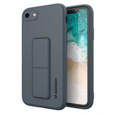 Wozinsky Kickstand Lankstaus Silikono Dėklas Su Stovu iPhone SE 2020 / iPhone 8 / iPhone 7 Tamsiai Mėlynas