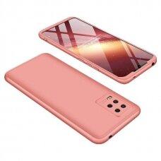 Dviejų dalių plastikinis dėklas GKK 360 Protection  Xiaomi Mi 10 Lite rožinis