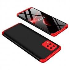 Dviejų dalių plastikinis dėklas GKK 360 Protection  Xiaomi Mi 10 Lite juodas-raudonas