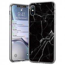 Wozinsky Marble Tpu Dėklas Iphone Xs / Iphone X Juodas