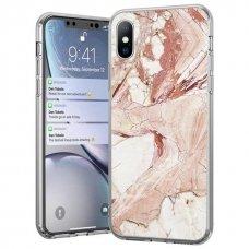 Wozinsky Marble Tpu Dėklas Iphone Xs / Iphone X Rožinis