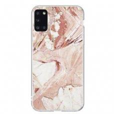 Dėklas Wozinsky Marble TPU  Samsung Galaxy A02s Rožinis