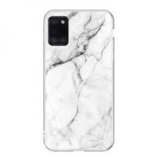 Dėklas Wozinsky Marble TPU Samsung Galaxy A02s Baltas