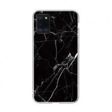 Wozinsky Marble TPU dėklas Samsung Galaxy A31 juodas