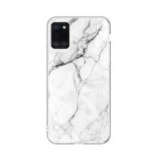 Wozinsky Marble TPU dėklas Samsung Galaxy A31 baltas