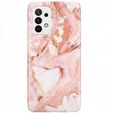 Dėklas Wozinsky Marble TPU  Samsung Galaxy A32 5G rožinis