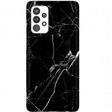 Dėklas Wozinsky Marble TPU Samsung Galaxy A52/ A52s Juodas