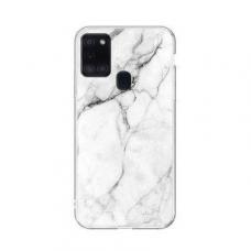 Wozinsky Marble Tpu Dėklas Samsung Galaxy A21S Baltas