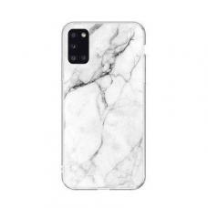 Wozinsky Marble TPU dėklas Samsung Galaxy A41 baltas