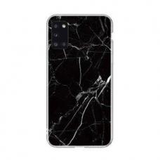 Wozinsky Marble TPU dėklas Samsung Galaxy A41 juodas