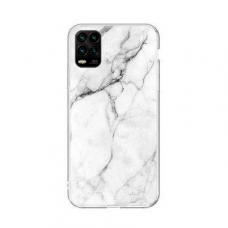 Wozinsky Marble Tpu Dėklas Xiaomi Mi 10 Lite Baltas