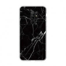 Wozinsky Marble Tpu Dėklas Xiaomi Mi Note 10 Lite Juodas